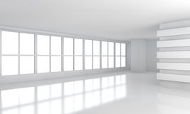 Sitio blanco grande del negocio con la ventana Foto de archivo