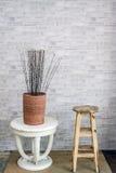Sitio clásico de la decoración de los muebles del vintage Fotografía de archivo libre de regalías