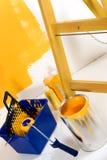 Sitio coloreado amarillo Fotografía de archivo libre de regalías