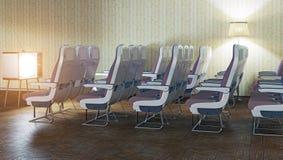 Sitio como cabina del aeroplano Fotografía de archivo