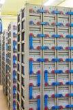 Sitio con el sistema eléctrico de reserva industrial imagen de archivo