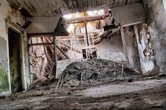 Sitio con el techo quebrado Fotografía de archivo libre de regalías