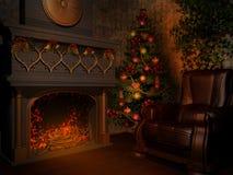 Sitio con la chimenea Imagen de archivo libre de regalías