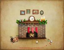 Sitio con la chimenea libre illustration