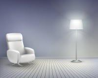 Sitio con la silla stock de ilustración