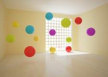 Sitio con las bolas coloreadas Fotos de archivo libres de regalías