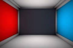 Sitio con las paredes de la publicidad Foto de archivo