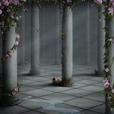Sitio con las rosas Fotografía de archivo libre de regalías
