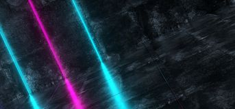 Sitio concreto inclinado del Grunge interior futurista de Sci Fi con el azul libre illustration