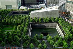 9/11 sitio conmemorativo, junio de 2015 Fotografía de archivo