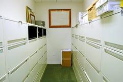 Sitio de almacenaje con los cabinetes de archivo Imagen de archivo