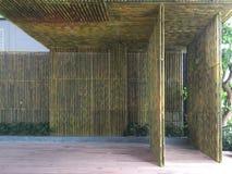 Sitio de bambú del espacio de la pared Fotografía de archivo