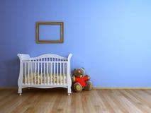 Sitio de bebé azul Imagen de archivo libre de regalías