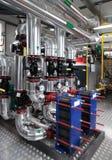 Sitio de caldera moderno de gas Imágenes de archivo libres de regalías