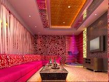 sitio de club 3D, pasillo Foto de archivo