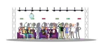 Sitio de club de noche stock de ilustración