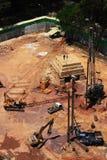 Sitio de Constrution fotos de archivo