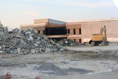 Sitio de demolición Foto de archivo libre de regalías
