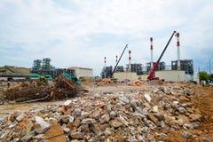Sitio de demolición o emplazamiento de la obra Fotos de archivo