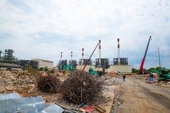 Sitio de demolición o emplazamiento de la obra Imagen de archivo
