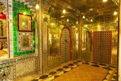 Sitio de espejos, Moti Mahal, palacio de la ciudad, Udaipur, Rajasthán foto de archivo