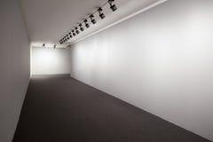 Sitio de exposición blanco Imágenes de archivo libres de regalías