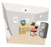 Sitio de funcionamiento privado ilustración del vector