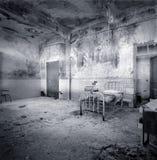 Sitio de hospital decrépito Foto de archivo libre de regalías