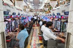 Sitio de juego electrónico en Japón imagen de archivo