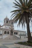 Sitio de l'église o de Nazare, Portugal Photographie stock libre de droits