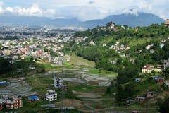 Sitio de la agricultura de Katmandu imagenes de archivo