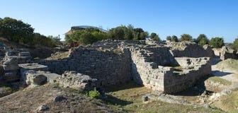 Sitio de la arqueología de Troy en Turquía, ruinas antiguas Imágenes de archivo libres de regalías