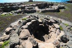 Sitio de la arqueología en las islas Canarias Fotografía de archivo libre de regalías
