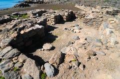 Sitio de la arqueología en las islas Canarias Foto de archivo