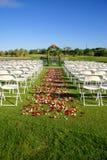 Sitio de la boda Fotos de archivo