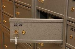 Sitio de la caja fuerte de la batería Foto de archivo libre de regalías