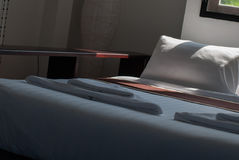 Sitio de la cama de la mañana Fotografía de archivo