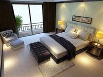 Sitio de la cama de la representación Foto de archivo