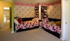 Sitio de la cama de los niños Fotografía de archivo