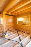 Sitio de la casa bajo construcción Foto de archivo libre de regalías