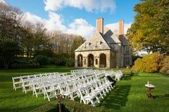 Sitio de la ceremonia de boda Imágenes de archivo libres de regalías
