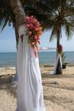 Sitio de la ceremonia de boda de playa Imagen de archivo