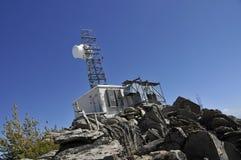 Sitio de la comunicación en Mtn.Peak Fotografía de archivo libre de regalías