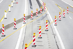 Sitio de la construcción de carreteras Imagen de archivo libre de regalías