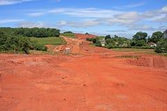 Sitio de la construcción de carreteras Foto de archivo
