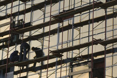 Sitio de la construcción de edificios   Foto de archivo libre de regalías