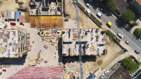 Sitio de la construcción de edificios almacen de metraje de vídeo