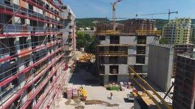 Sitio de la construcción de edificios metrajes