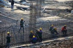Sitio de la construcción de edificios en Tailandia Fotos de archivo libres de regalías