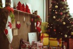 Sitio de la decoración de la Navidad Foto de archivo